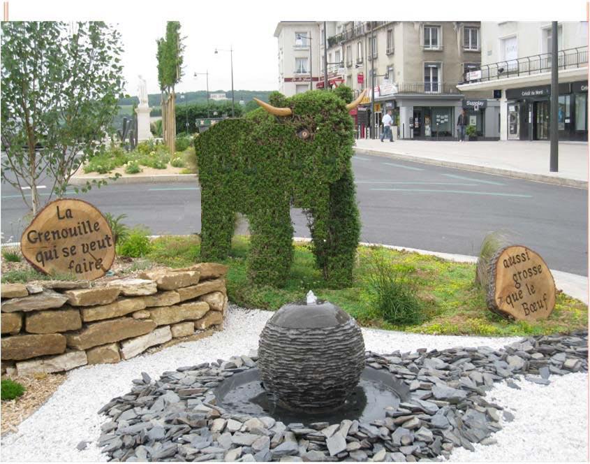 Jean de la fontaine ch teau thierry sa ville natale - Image la grenouille et le boeuf ...