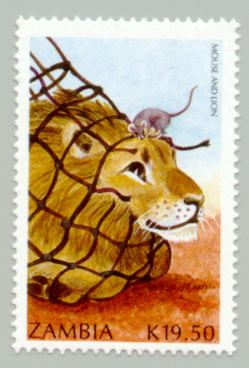 illustration de jean de la fontaine le lion et le rat