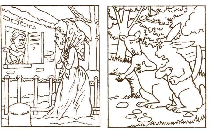 Fables De La Fontaine Jeu Coloriage La Cigale Et La