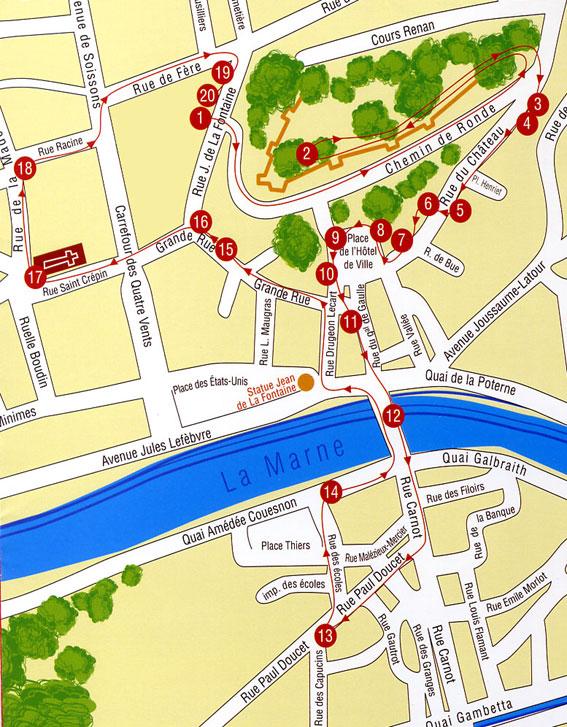 Plan du parcours for Piscine du cateau
